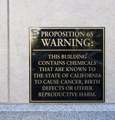 Prop 65 warning sign