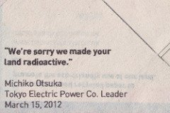 apology from Tokyo Electric Power Co. leader