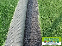 crumb rubber with artificial turf
