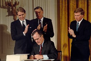 signing the 1990 Clean Air Act