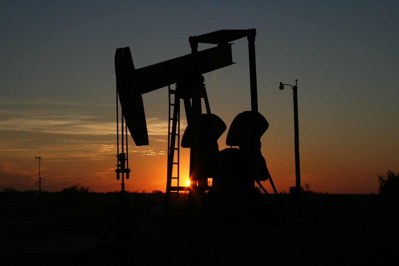 Texas Oil Operation at Sunset