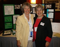 Maria Valenti and Judy Lear, Gray Panthers Executive Director, at CHE exhibit at Generations United Conference