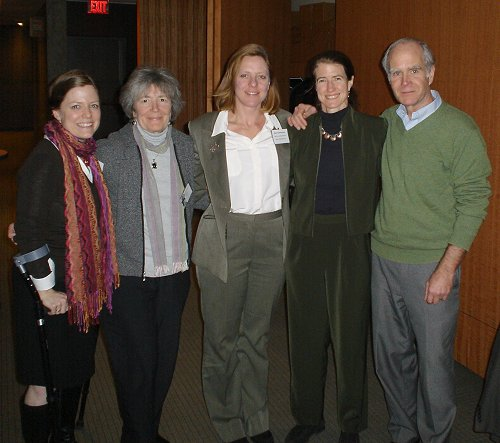 L-R - Erika Hagensen,Maria Valenti, Karin Russ, Elise Miller and Dr. Ted Schettler at the 2011 Health and Chemical Policy Forum in DC